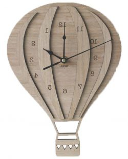 Hot air balloon clock file cdr and dxf free vector download for Laser cut