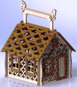 House for candy file cdr and dxf free vector download for Laser cut