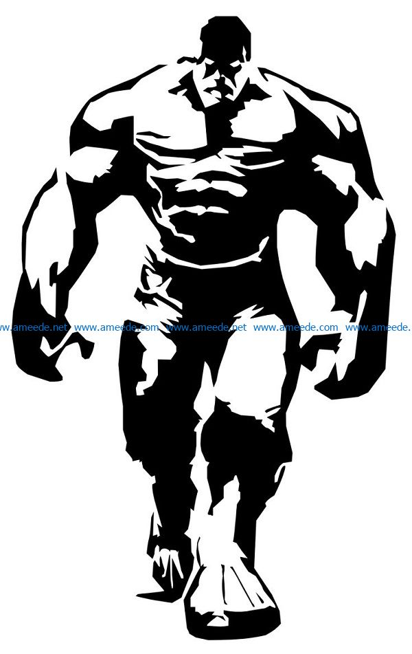 Hulk file cdr and dxf free vector download for print or laser engraving machines