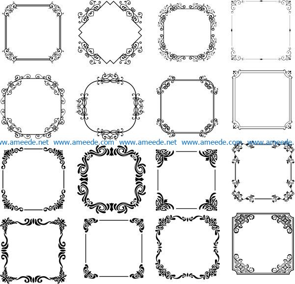 Impressive decorative frame file cdr and dxf free vector download for Laser cut CNC