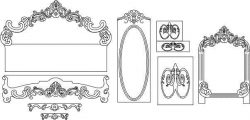 Interior decoration pattern file cdr and dxf free vector download for CNC cut