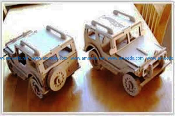 Jeep Hot Wheels file cdr and dxf free vector download for Laser cut