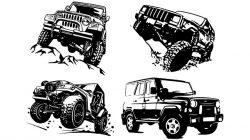 Jeep car file cdr and dxf free vector download for print or laser engraving machines