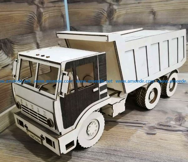 Kamaz file cdr and dxf free vector download for Laser cut