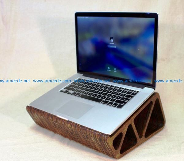 Laptop Stand file cdr and dxf free vector download for Laser cut CNC
