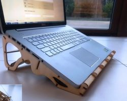 Laptop stand file cdr and dxf free vector download for Laser cut