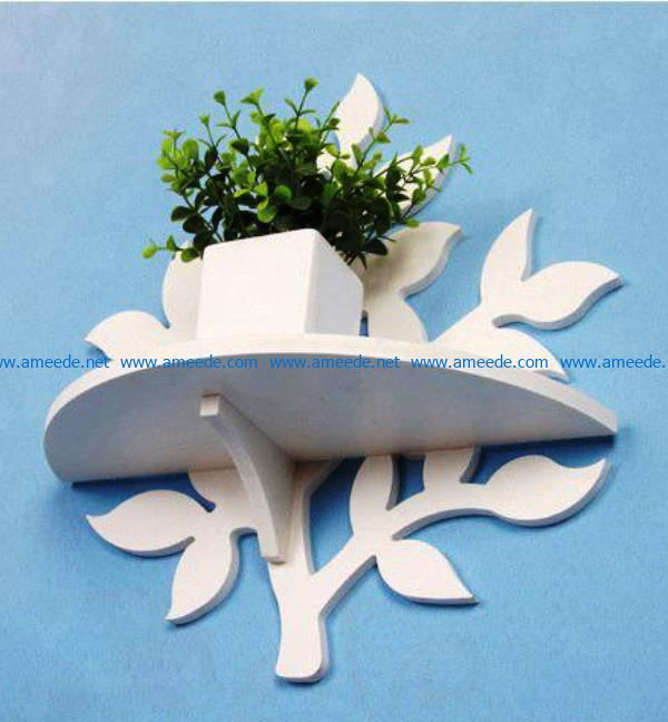 Leaf-shaped shelves file cdr and dxf free vector download for Laser cut CNC