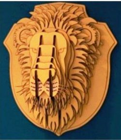 Lion head file cdr and dxf free vector download for Laser cut CNC
