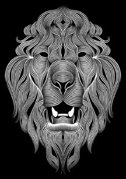 Lion head file cdr and dxf free vector download for print or laser engraving machines