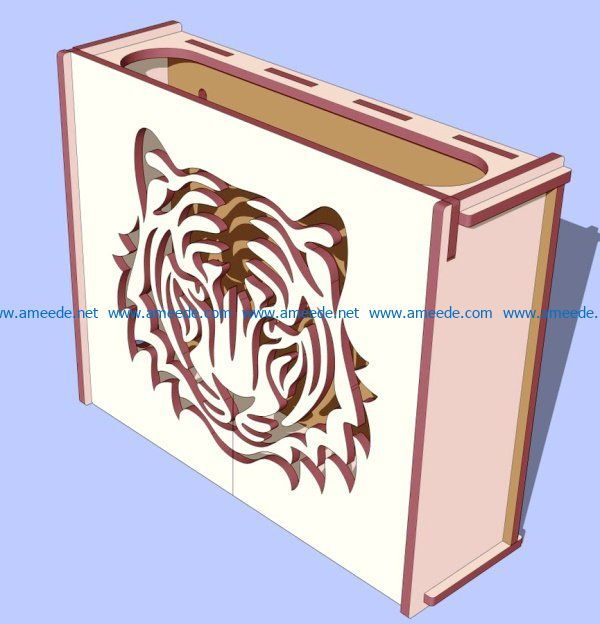 Lion head motifs box file cdr and dxf free vector download for Laser cut