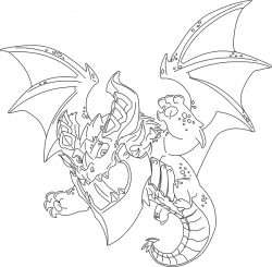 Little dragon file cdr and dxf free vector download for print or laser engraving machines
