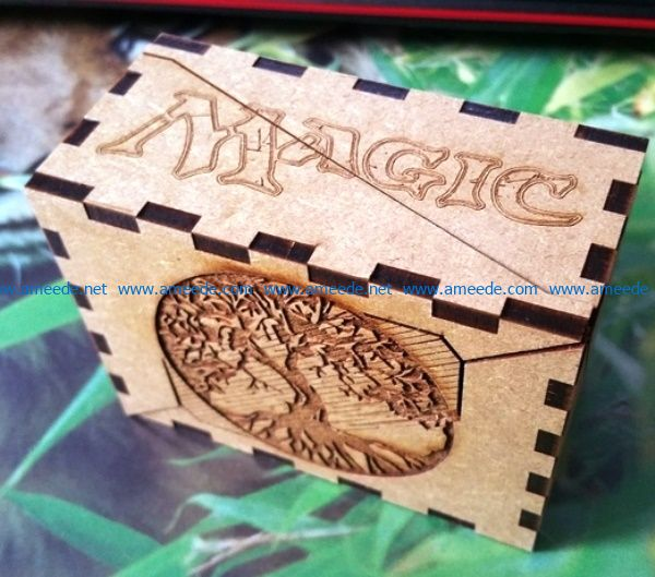 Magic box file cdr and dxf free vector download for Laser cut