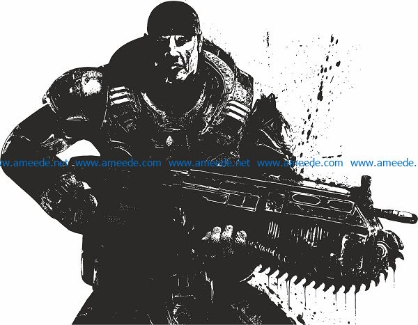 Mercenary file cdr and dxf free vector download for print or laser engraving machines