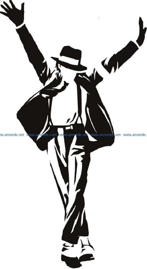 Michael Jackson file cdr and dxf free vector download for print or laser engraving machines