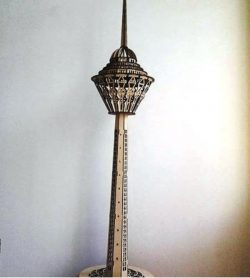 Milad Tower file cdr and dxf free vector download for Laser cut