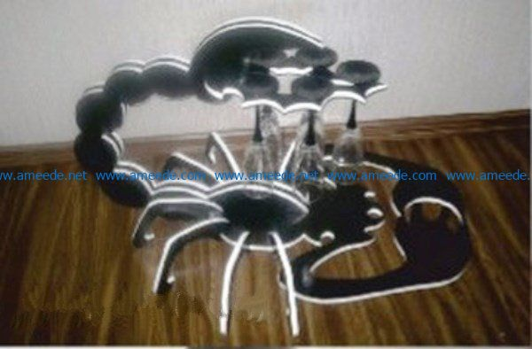 Minibar Scorpion file cdr and dxf free vector download for Laser cut