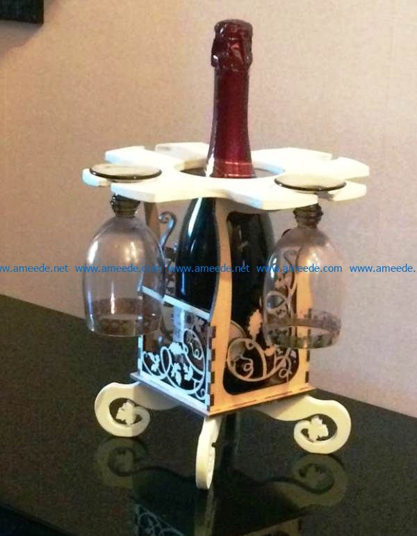 Minibar Wine file cdr and dxf free vector download for Laser cut