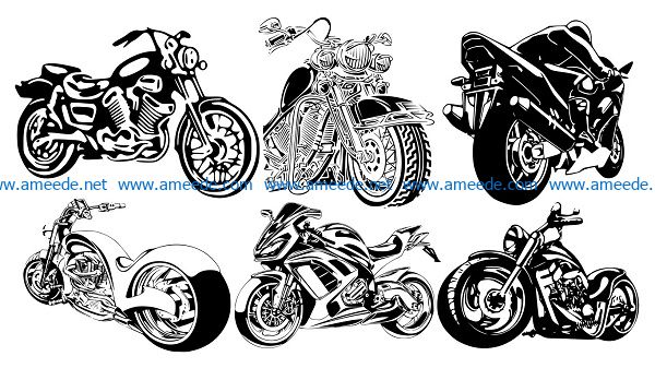Moto tema file cdr and dxf free vector download for print or laser engraving machines