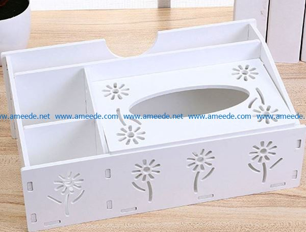 Napkin holder file cdr and dxf free vector download for Laser cut
