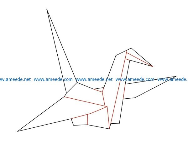 Paper Cranes file cdr and dxf free vector download for Laser cut