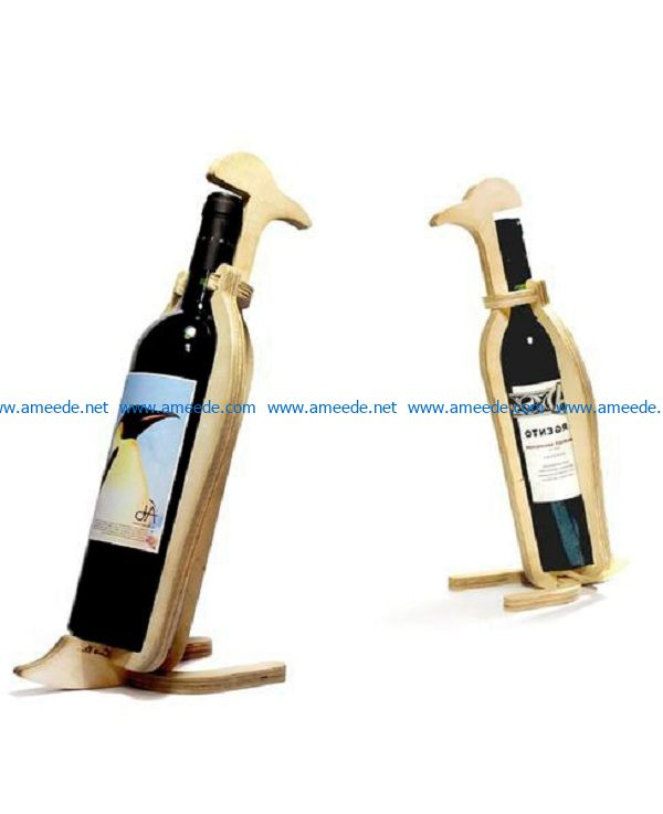 Penguins wine tray file cdr and dxf free vector download for Laser cut