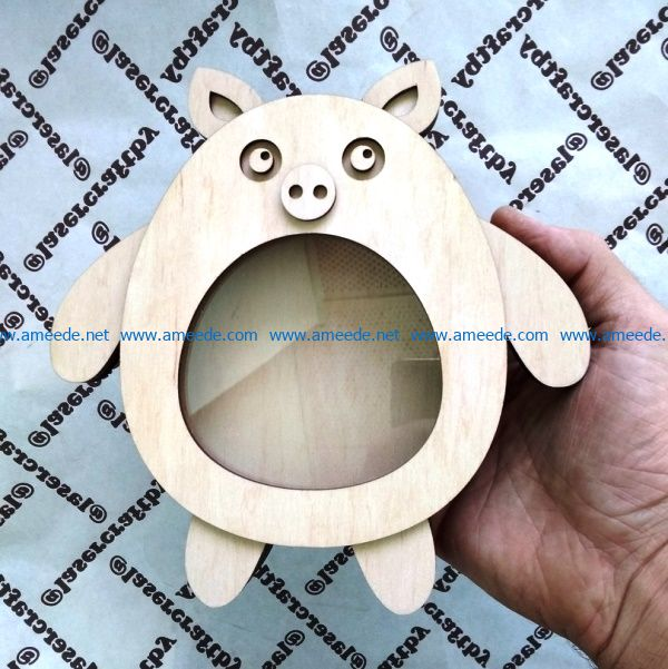 Piggy Bank file cdr and dxf free vector download for Laser cut