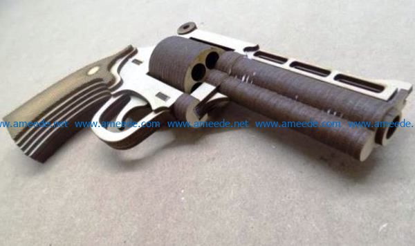 Pistolet Magnum file cdr and dxf free vector download for Laser cut