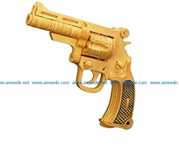 Pistolet file cdr and dxf free vector download for Laser cut