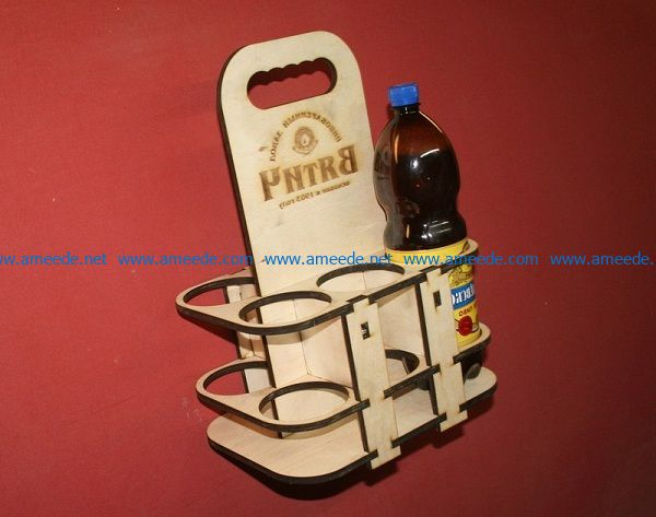 Plastic bottle beer tray file cdr and dxf free vector download for Laser cut