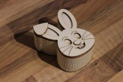 Rabbit-shaped box file cdr and dxf free vector download for Laser cut