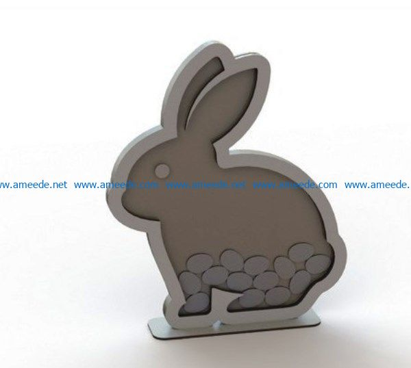Rabbit wish file cdr and dxf free vector download for Laser cut