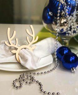 Reindeer horns for napkins  file cdr and dxf free vector download for Laser cut