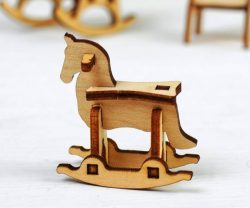 Rocking Horse file cdr and dxf free vector download for Laser cut CNC