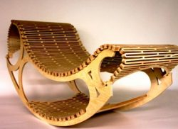 Rocking chair is made of plywood file cdr and dxf free vector download for Laser cut