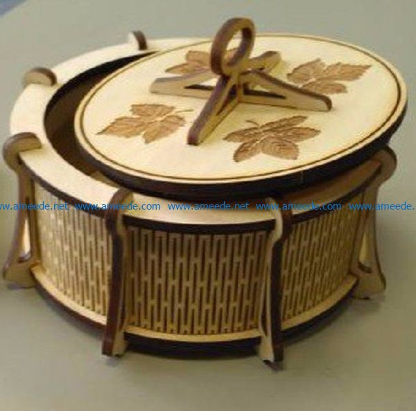 Round wooden box file cdr and dxf free vector download for Laser cut