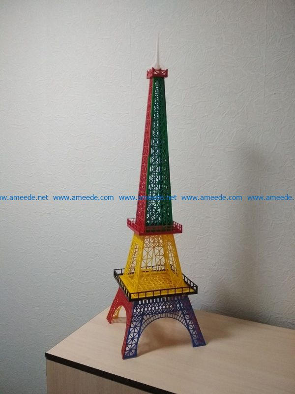 Seven color tower file cdr and dxf free vector download for Laser cut