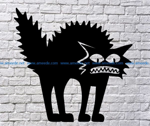 Shaggy cat file cdr and dxf free vector download for Laser cut Plasma