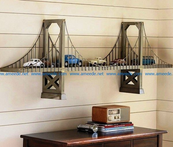 Shelf shaped bridge file cdr and dxf free vector download for Laser cut