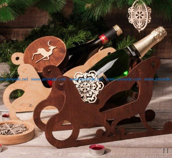 Sleigh minibar file cdr and dxf free vector download for Laser cut