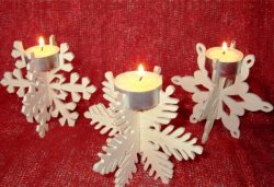 Snowflake candlesticks file cdr and dxf free vector download for Laser cut