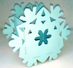 Snowflakes basket file cdr and dxf free vector download for Laser cut