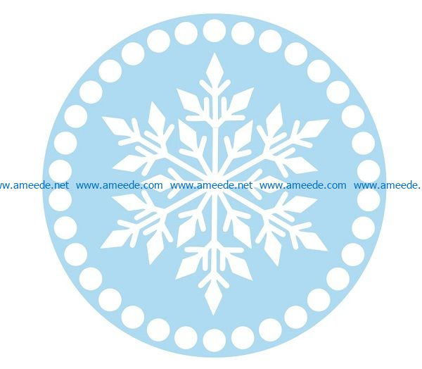 Snowflakes file cdr and dxf free vector download for print or laser engraving machines