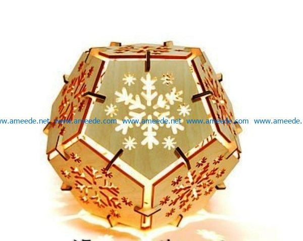 Snowflakes night light file cdr and dxf free vector download for Laser cut