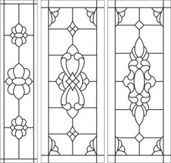 Stained glass window file cdr and dxf free vector download for laser engraving machines