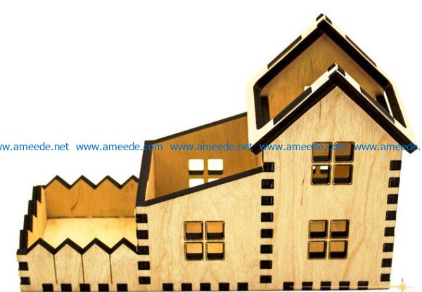 Stand house file cdr and dxf free vector download for Laser cut