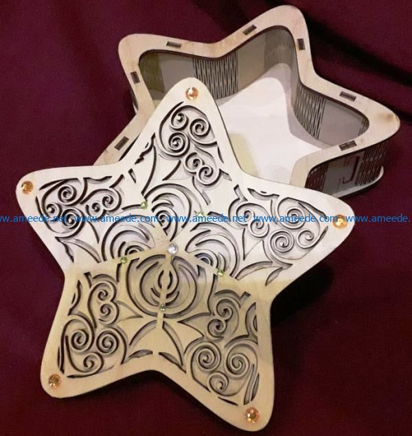 Star box file cdr and dxf free vector download for laser engraving machines