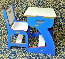 Student desk and chair set file cdr and dxf free vector download for Laser cut CNC