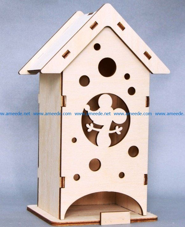 Tea house mouse file cdr and dxf free vector download for Laser cut