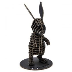 The rabbit stands on two feet file cdr and dxf free vector download for Laser cut