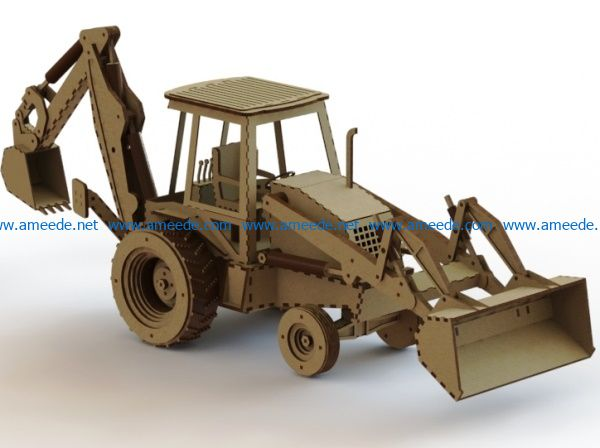 Tracteur file cdr and dxf free vector download for Laser cut